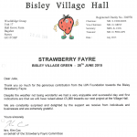 Letter from Bisley Village Hall