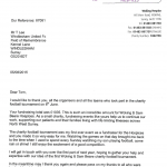 Letter from Woking Hospice