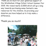 Letter from Windlesham Village Infant School
